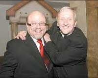 Father Pat and Rabbi Lebow, happy!