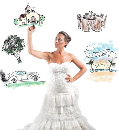 Woman Planning a Wedding